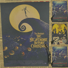 Movie Poster The Nightmare Before Christmas Comic Kraft Paper Drawing Sticker Wallpaper Family Decorative Painting Picture Mural