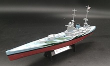 AMER 1:1000 World War II British Royal Navy Battleship Rodney model Collection model Holiday gift(China)