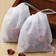 100pcs 8*10 CM Empty Tea Bags Single Drawstring Tea Bag Filter Drawstring Tea Bag Coffee Bags/ Filters