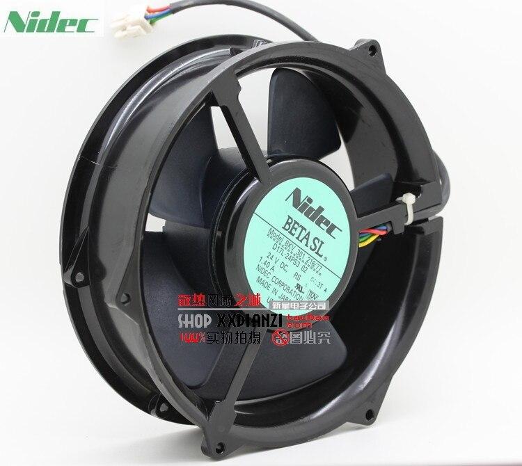 Nidec BKV 301 216/77 D17L-24PS3 02  170 * 170 * 50mm 17cm 170mm DC 24V 1.40A cooling fan<br>