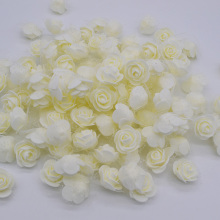 30pcs/lot 3.5cm PE Foam Rose Multi-use Artificial Flower Head Handmade With Tulle DIY Wedding Home Party Decoration Supplies(China)
