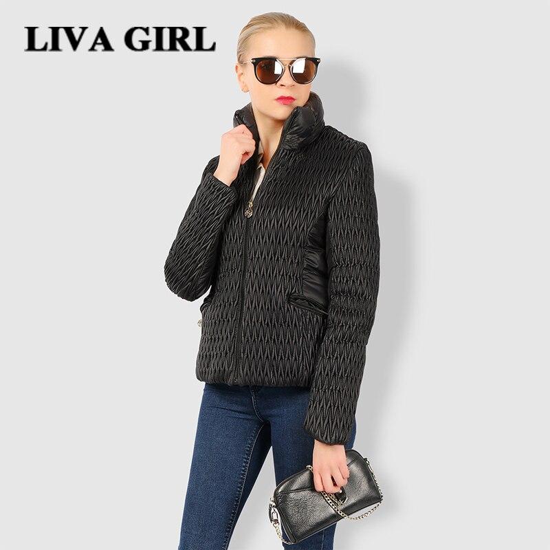Liva Girl Winter Jacket Women Parka Solid Zipper Gender Parka Cotton Polyester Casual slim Warm Coat Short Jackets WomenÎäåæäà è àêñåññóàðû<br><br>