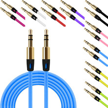 Factory Price Binmer Hot Selling High Quality 3.5mm Auxiliary Cable Audio Cable Male To Male Flat Aux Cable Drop Shipping(China)