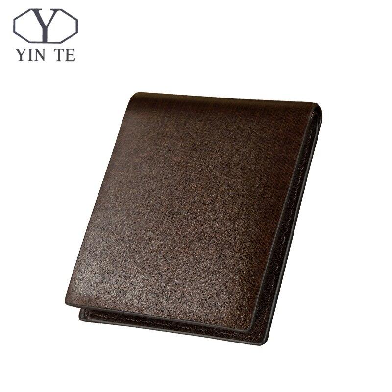 YINTE Fashion Wallet Leather Men Wallet Short Brown Bag Men Purse High Quality Male Card Holder Wallet Portfolio T8839C<br>