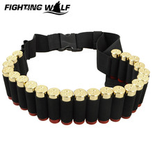 Outdoor Airsoft MilitaryShotgun Shell Belt Carrier Holder 25 Rounds Shotgun Ammo Cartridge Pouch 12 Guage for Hunting Sport