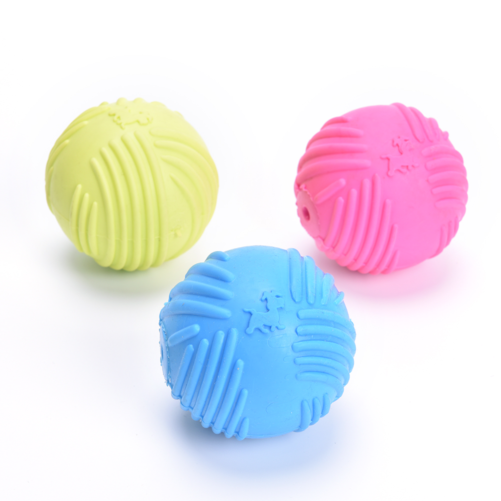 New Durable Rubber Balls Pet Dog Cat Puppy Chew Toys Ball Chew Toys Tooth Cleaning Balls