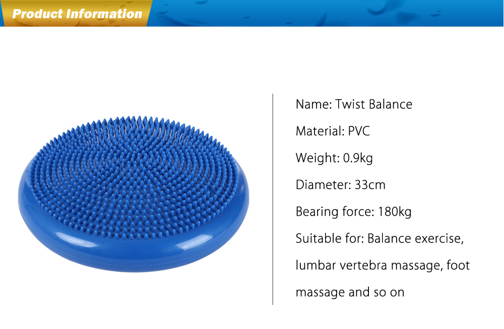 Inflation Twist Balance Pad Disc Board for Massage Fitness Exercise