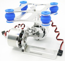 CNC ALU Frame FPV Brushless Camera Gimbal W/ 2 Motors Shock Absorber Phantom Gopro 3 3+ Silver / Purple / Green