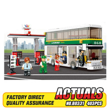 403pcs/set Child Toy DIY Blocks, Kids Educational City Double-decker Bus Brick Toy Set B0331 best gift for kid, Free Shipping(China)