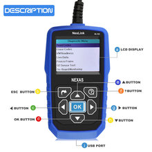 Heavy Duty Truck Diagnostic Scanner NEXAS NexLink NL102 OBD2 CAN Auto Kit  Car & Truck Heavy 2 in 1 with Battery Tester Function