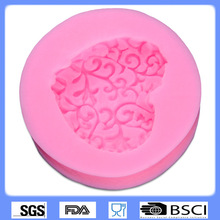 DIY Cake Decorating Loving Heart Lace Shaped Fondant Sugar Art Tools DIY Cake Decorating Tools 3D Silicone Molded 9095