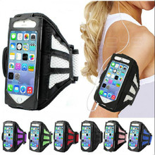 Sport arm band bag Case for Iphone 4 4s 5 5s SE 6 6s plus 7 7plus Grid Running Jogging arm sleeve Mobile Phone Cases(China)