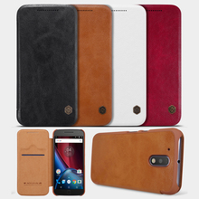 For Motorola Moto G 4 4th Gen /G4 Plus (2016) Nillkin Luxury Leather Card Flip Case Pouch Wallet Bag Cover For Moto G4 /G4 Plus