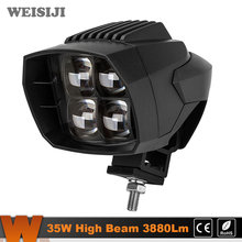 WEISIJI 1Pcs 5.1in High Beam 35W LED Work Light 3880Lm LED Driving Light for Jeep Hummer Ford Motorcycle Truck SUV ATV UTV IP67(China)