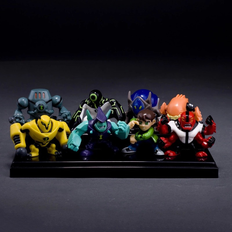 8Pieces-5CM-Ben-10-new-high-quality-Protector-of-Earth-Family-Action-Figures-Brinquedos-Toys-free