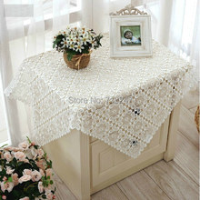 New Arrival High Quality Elegant Full Lace Tablecloths White Wedding Table Cloth Cover Overlays Home Decoration Textiles