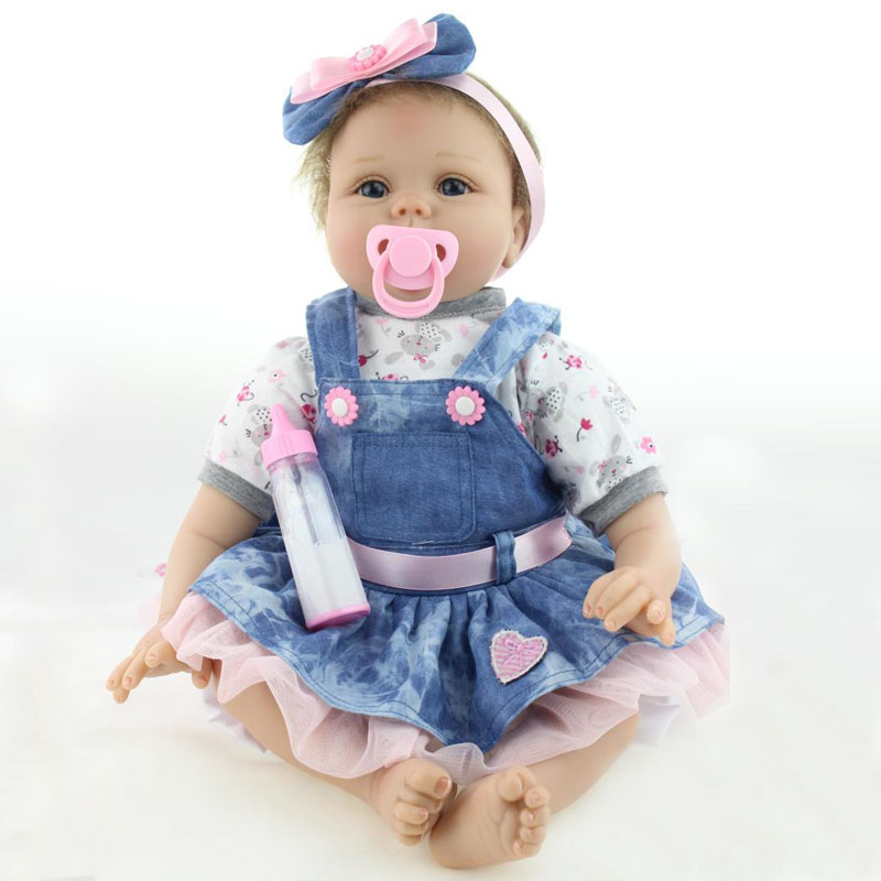 New Arrival 50-55cm Handmade Silicone Reborn Baby Doll Soft Body Baby Reborn Toys Best Gifts Toddler Gentle Touch Body Toy  Toy<br><br>Aliexpress