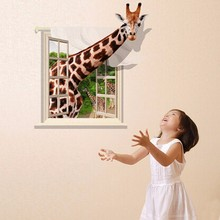 Lovely Giraffe Wall sticker Cartoon Decal Living Room Home Decor Wallpaper Art Mural Decoration Stickers Product 3D