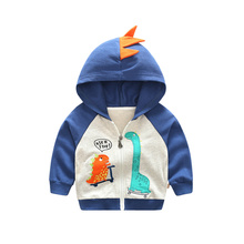 1-5 Years Cute Dinosaur Children Coat Autumn Kids Jacket Boys Outerwear Coats Active Boy Cartoon Baby Clothes 3 Colors Clothing