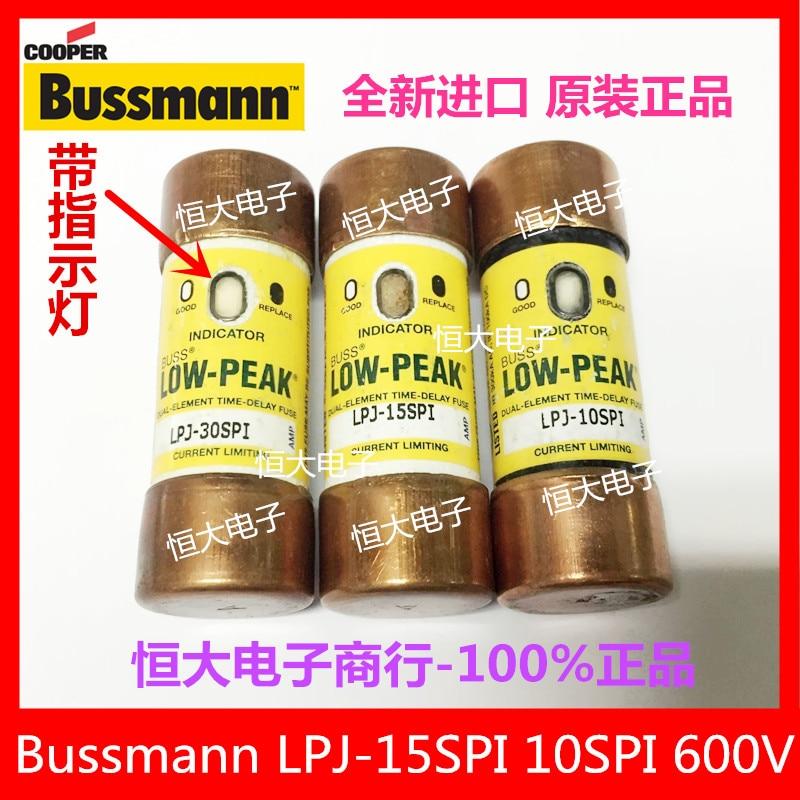 BUSSMANN LPJ-5-6/10SPI 600V import fuse delay fuse with indicator light<br>