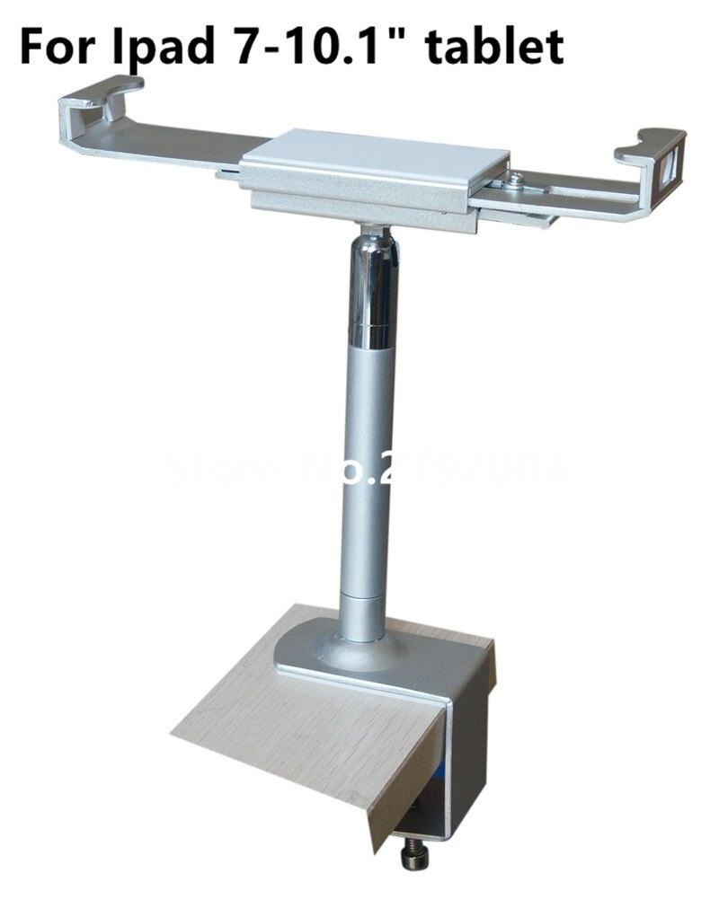 Lockable tablet security stand metalli Ipad lock display case flexible holder kiosk desktop anti theft clamp for 7-10.1 tablet<br>