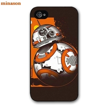 minason Starwars BB-8 Droid Robot BB8 Cover case for iphone 4 4s 5 5s 5c 6 6s 7 8 plus samsung galaxy S5 S6 Note 2 3 4 F5722(China)