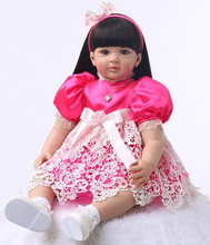 Silicone Reborn Baby Doll Toys 60cm Princess Toddler Babies Lovely Birthday Present Limited Collection Doll Girls Brinquedos