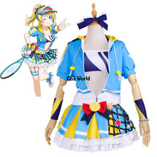 Love Live School Idol Project Ayase Eli Tennis Boob Tube Tops Hoody Coat Dress Uniform Outfit Anime Cosplay Costumes