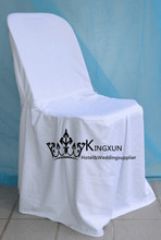 White Poly Plastic Chair Cover \ Cheap Wedding Chair Cover