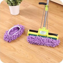 Mop Slippers Dusting Cleaning Foot Socks Shoe Lazy Quick House Floor Polishing