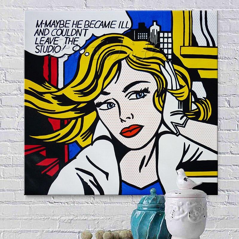 Roy Lichtenstein pop art vintage wall deco art painting poster print