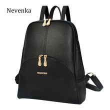 Nevenka Women Backpack Leather Backpacks Softback Bags Brand Design Bag Preppy Style Bag Casual Backpacks Teenagers Backpack