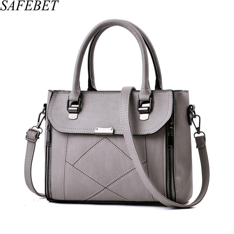 SAFEBET Brand 2017 High Quality PU Leather Female bag Handbags Fashion Handbags Elegant Luxury Women Shoulder bags Messenger bag<br>