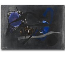FRITZ WINTER Canvas Art Abstract Painting Canvas Oil Printed On Canvas Painting Dark Blue Paintings For Living Room Wall Decor