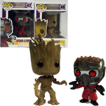 Funko Pop Star Lord&Groot Tree man Guardians of the Galaxy Anime Collection Action Figure Model PVC Kids Toys