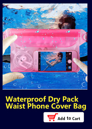 Waterproof Dry Pack Outdoor Swimming Drifting Waterproof Pouch Dry Bag PVC Waist Phone Cover Storage Protective