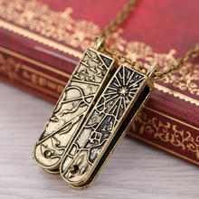 HSIC Dropshipping Lolita Vintage Jewelry Grimm Key Charm Necklace Bronze Mechanical Nick Burkhardt Vintage Pendant Necklace