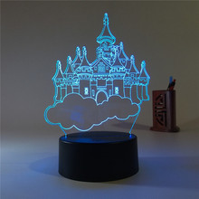 Creative 3 d lamp sky city RGB colorful light The bedroom small night lights gift lights