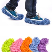 Women Men Novelty Slippers Style Micro Fiber Shoes Mop Sock Floor ground Cleaning tools home Bedroom Household Accessories(China)