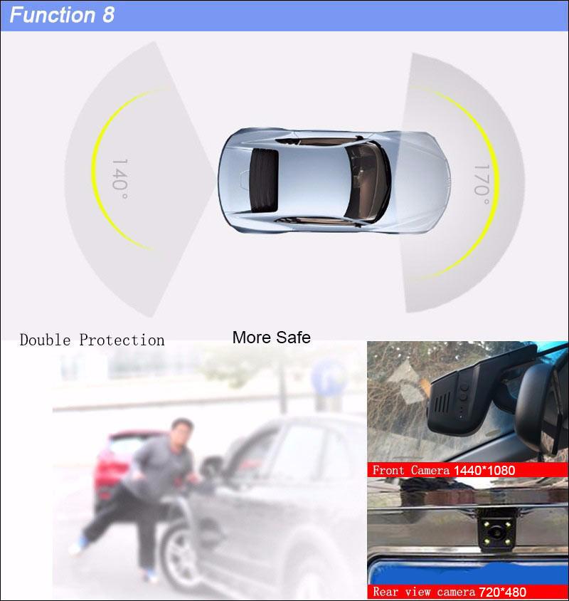 BigBigRoad Car Wifi DVR For honda accord CR-Z GREIZ CRV CR-V Jade odyssey elysion Dual Camera Video Recorder Dash Cam Black Box (12)
