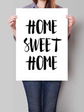 Giclee Digital Print Home Sweet Home Apartment Decor Digital Art Quote wall art decor picture printed Black and White painting