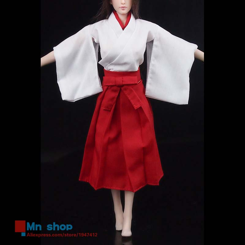 1/6 Scale Action Figure Clothes Accessories Japanese Witch Clothes Kendo Kimono Dress For 12 Action Figure Toys<br>