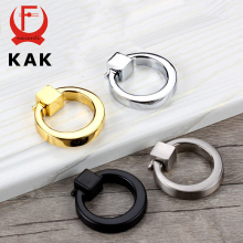 KAK 7PCS Ring Circle Handles Zinc Alloy Door Handle Pulls American Cabinet Drawer Knobs With Screws For Furniture Hardware(China)