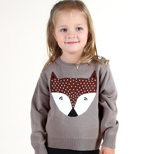 New Autumn Baby Boys Girls Costume Crochet FOX Top Animal Sweater Children Toddler Clothing Pullover