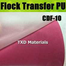 CDF-10 Pink High quality heat transfer flocking PU VINYL FOR CUTTER PLOTTER with size 50X100CM(China)