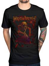 Jzecco Newest Summer Fashion Megadeth Skull Peace Sells T Shirt Countdown To X United Abominations Design T Shirt Cool(China)