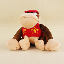 Big Size 20cm Super Mario Bros Monkey Diddy Kong Soft Stuffed Plush Toys Kids Gifts