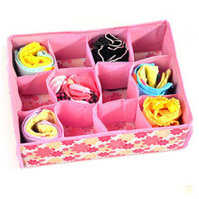 12 Cells Socks Bra Underwear Drawer Closet Home Organizer Storage Box Case Tool(China)
