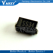 100pcs 1N5822 SMA smd do-214ac IN5822 Schottky diode ss34 free shipping(China)