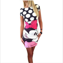 Buy 2018 Fashion women New summer mini cartoon dress female Casual Sexy miki plus size dresses party short vestidos clothes clothing for $4.62 in AliExpress store